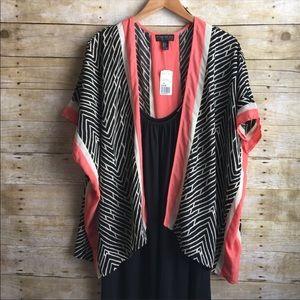 NEW Forever 21+ Tribal Print Kimono. Size 1X.
